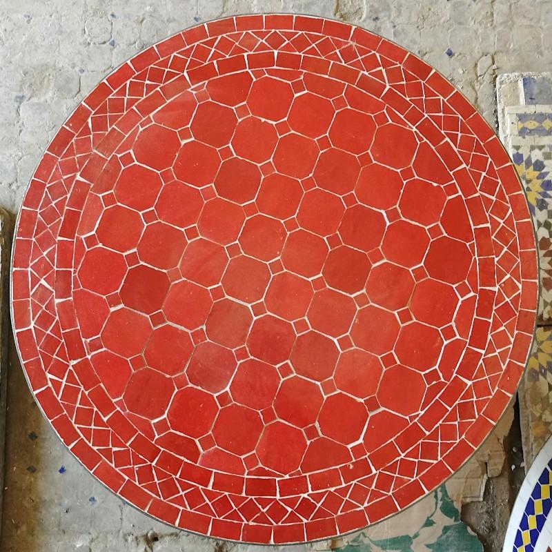 plateau de table ou console en céramique marocaine ou zellige