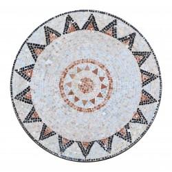 Plateau mosaïque marbre