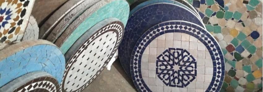 table mosaïque en céramique zellige