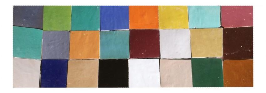le Zellige est une céramique de Fez aux coloris nuancés uniques, appréciés pour sols, murs ou crédances en cuisine et salled de bains